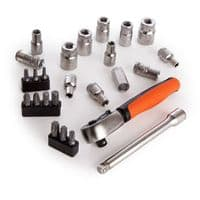 Bahco SL25 Metric Bit and Socket Set 1/4in Dynamic Drive (25 Piece)